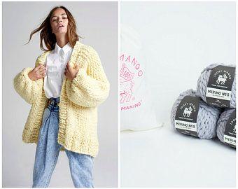 Loopy Mango Winter Coat Chunky Merino Wool Prendas De Punto Abrigos De Invierno Abrigos