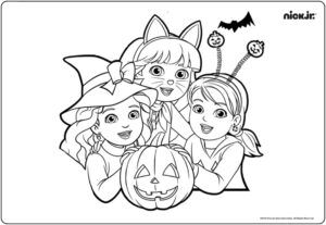 Disney Junior Halloween Coloring Pages Halloween Coloring Pages Nick Jr Coloring Pages Dog Coloring Page