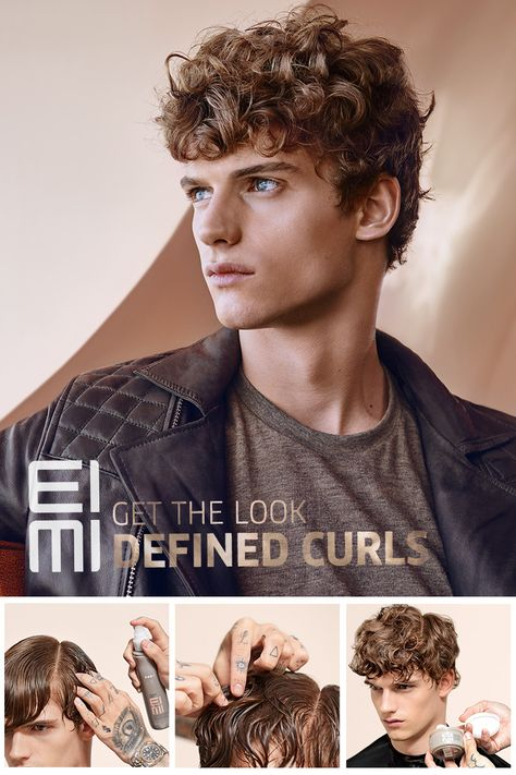 Get the Look: Defined Curls Give your male clients a fresh look with this step-by-step guide using Wella color and then EIMI Grip Cream for curled definition.
