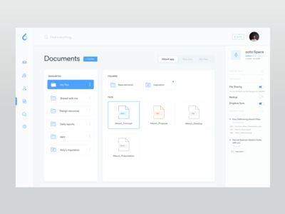 Files board - ooto Dashboard