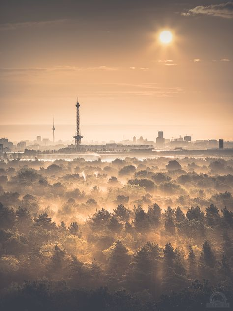 Berlin skyline from the outskirts.