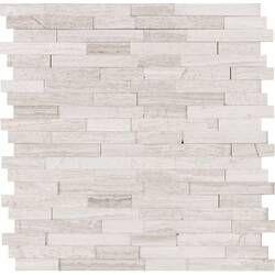 6 X 24 Stone Composite Peel Stick Mosaic Tile Smart Tiles Marble Mosaic Tiles Mosaic Tiles
