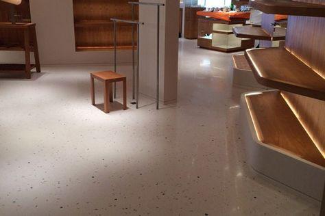 Hermes Luxury Boutique Cannes Floors Concrete Floors
