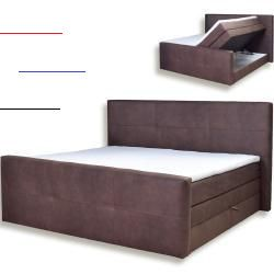 Boxspringbett Dunkelbraun Kunstleder H3 180x200 Cm Roller In 2020 Box Spring Bed Roller Outdoor Storage Box