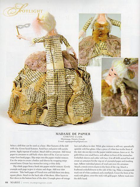 Papier mache doll (contemporary).