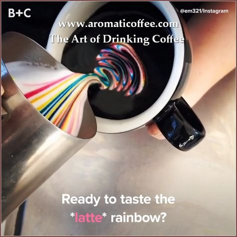 Coffee art is so pretty! I dont even drink coffee!-Rainbow lattes are REAL! But i'm not sure i will drink it though And by the time they are dobe, your coffee is cold :( Rainbow lattes are REAL! Omg I wanna drink this *_* lactosefree How to Draw Flowers w