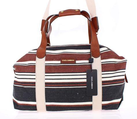 Dolce   Gabbana Multicolor striped boston bag  3c5c1140cf8ef