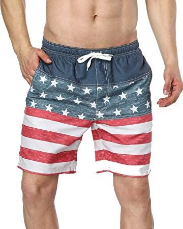 American Flag Bathing Suit For Men