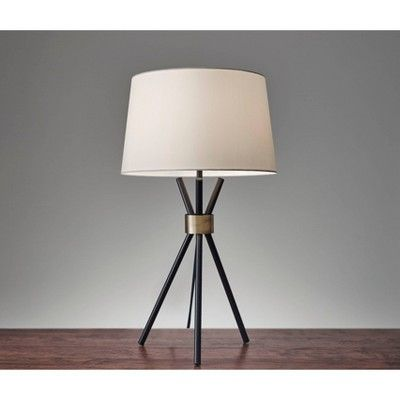 25 5 Benson Table Lamp Black Adesso Tripod Table Lamp Lamp Modern Lamp