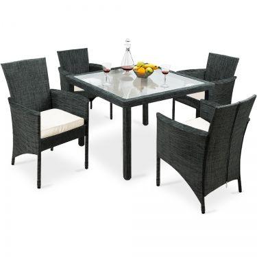 9 Tlg Sitzgruppe Panama Mit Glastisch Gartenmobel Sets Lounge