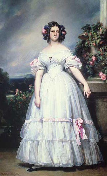 1839 Portrait Of HRH Princess Clementine Of Orléans (1817-1907)