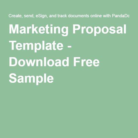 Advertising Proposal Template Sample Proposals Pinterest