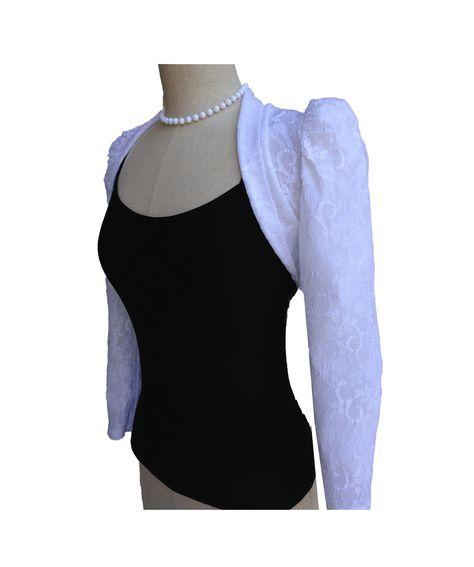 sleeveless Women-039-s-White-Lace-Bolero-...