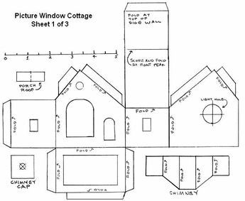 Free Printable Paper House Patterns Templates Paper House