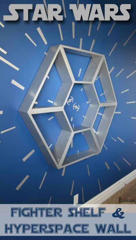 An awesome Star Wars bedroom hyperspace mural with Modern Masters Metallic Paint | Project by Her Toolbelt