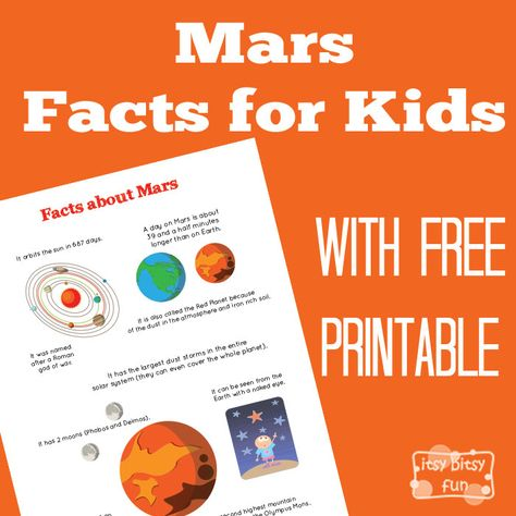 Planet Mars Facts for Kids