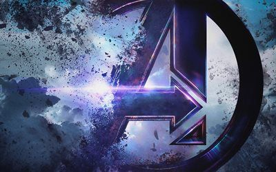 Download Wallpapers 4k Avengers Endgame Logo 2019 Movie