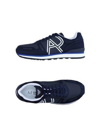 Armani Jeans Sneakers In Dark Blue