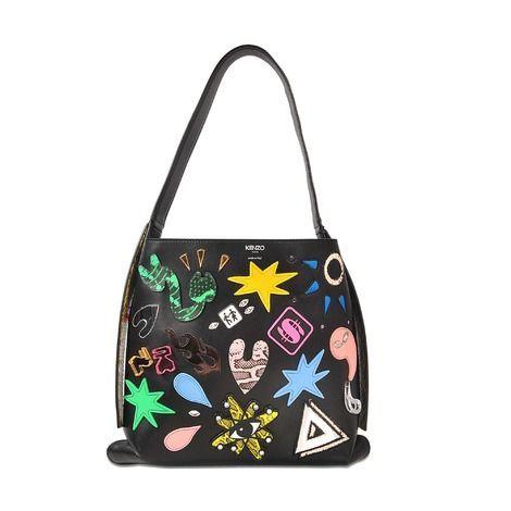 680b3ccb KENZO Kombo Mini Hobo Bag With Patches. #kenzo #bags #shoulder bags ...
