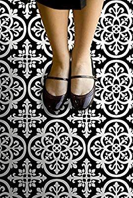Floorpops Fp2475 Gothic Peel Stick Floor Tiles Decal Black Amazon Com Peel And Stick Floor Vinyl Tile Stick On Tiles