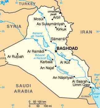 Map of Iraq showing Baghdad | Iraq map, Baghdad, Iraq war