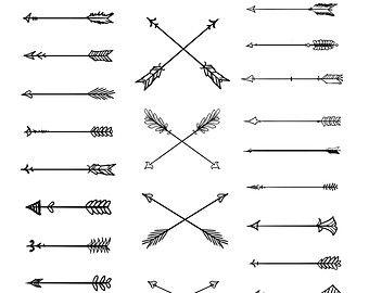 Doodle Tribal Arrows Clipart: 23 vector arrows - hand drawn,tribal clip art, doodle clipart, diy elements, vector arrows,