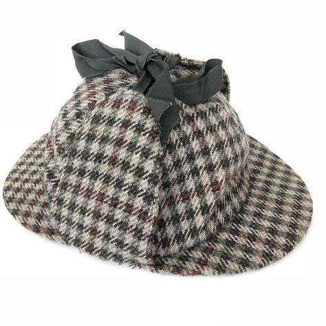 Vintage Lock   Co Hatters Small S Wool Tweed Deerstalker Hat St James  London  68695036158