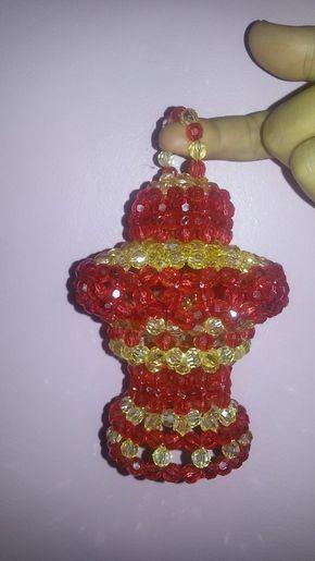 اسهل طريقة لعمل فانوس رمضان من الخرز خطوة خطوة Perler Beads Designs Beaded Jewelry Tutorials Beaded Crafts
