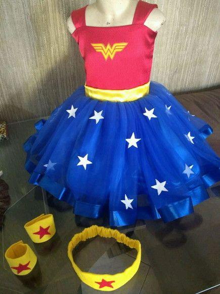 999dfcd3c Compre Vestido Mulher Maravilha no Elo7 por R$ 140,00 | Encontre mais  produtos
