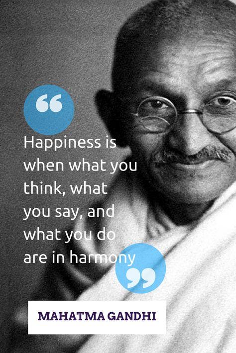 Happyness Mahatma Gandhi