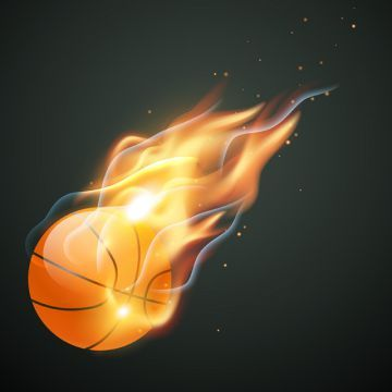 Burning Basketball Illustration Clipart Basketball Abstract Ball Png And Vector With Transparent Background For Free Download