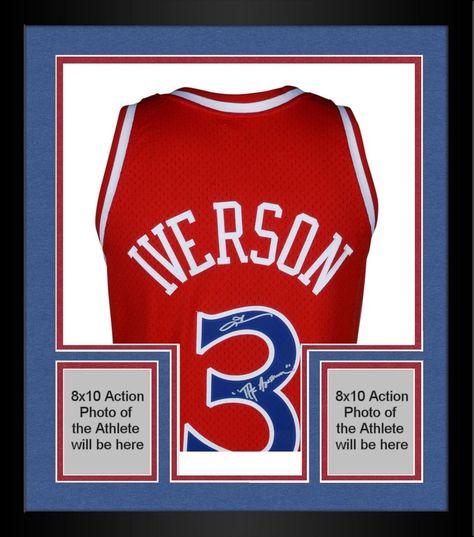 Autographed Allen Iverson 76ers Jersey Fanatics Authentic COA Item 9117387 433c5a819