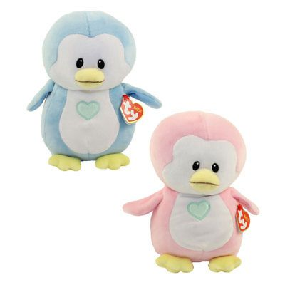 Regular Size - 7 inch - New BabyTy Stuffed Toy Baby TY DOODLES the Pink Seal