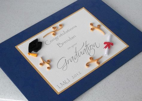 Handmade graduation card, quilled, personalized. £7.00, via Etsy.