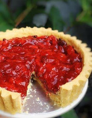Pie Strawberry Makanan Manis Pai Kue Stroberi