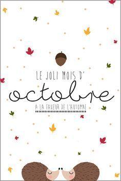 Calendrier Du Mois D Octobre A Imprimer Carte Postale