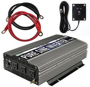 Amazon Com Power Techon 1500w Pure Sine Wave Power Inverter 12v Dc To 120 V Ac With 3 Ac Outlets 1 5v Usb Port Power Inverters Sine Wave Thermal Protectant
