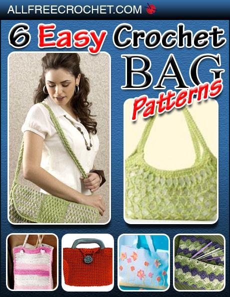 6 Easy Crochet Bag Patterns eBook-