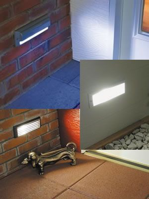 external brick wall lighting. nsl led brick star light \u0026 xenon lights sized to replace a single standard brick. self-contained, complete die cast aluminum reces\u2026 external wall lighting p
