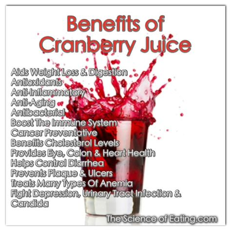 We know cranberries are a staple at the holidays, but they (and their juice) are a superfood that should be enjoyed all year round. They offer loads of antioxidants and fiber, and are low calorie.