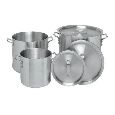 NSF Aluminum Restaurant Kitchen Commercial Stock Pot with Lid Cover 24 Qt