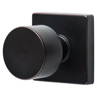 Sure-Loc Bergen Vintage Oil-rubbed Bronze Square Modern Doorknob