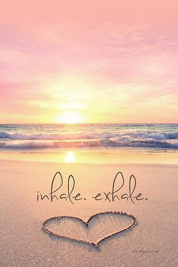 Buy 'inhale. exhale.' by CarlyMarie as a Poster, Throw Pillow, Tote Bag, Art Print, Canvas Print, Framed Print, Photographic Print, Metal Print, or Greeting Card #BeachPhotographyQuotes