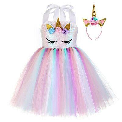 Sponsored Ebay Vestido De Unicornio Para Niñas 8 9 10 Años Vestidos Cumpleaños B Vestidos De Cumpleaños Para Niñas Unicornio Para Niños Vestido De Halloween