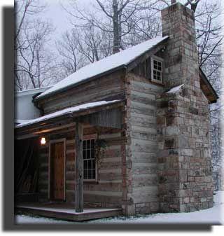 Cabin Stone Http Www Appalachianwoods Com Images Log Cabin Winter Jpg Rustic Cabin Cabin Log Cabin Homes