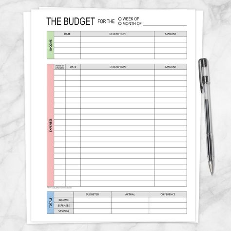 Financial BUNDLE: Budget Worksheet, Bill Payment, Debt Payoff Plan - Printable