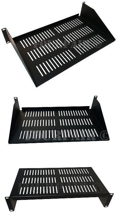 "2 Pack Vented Cantilever Rack Mount Steel Keyboard Server Shelf 19/"" 2U 10/"" Deep"