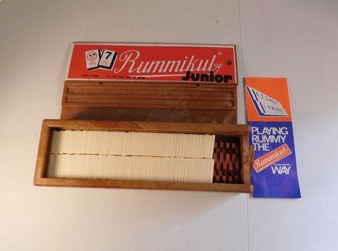 Vintage 1973 Rummikub Junior Game Set Made In Israel 106 Tiles With