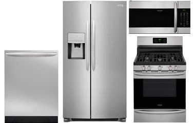 Frigidaire Gallery Stainless Steel Side By Side Counter Depth Refrigerator With Gas Range Gas Kitchen Appliances Kitchen Appliance Packages Frigidaire Gallery