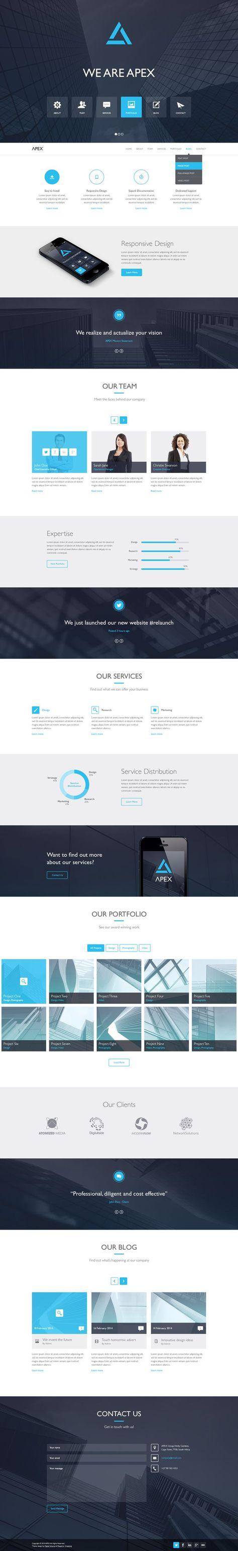 Apex - Responsive WordPress Theme by meta4creations